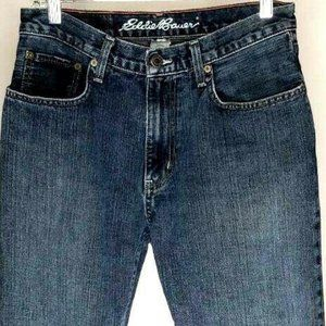 Eddie Bauer Mens Relaxed Straight Jeans Blue 30x30